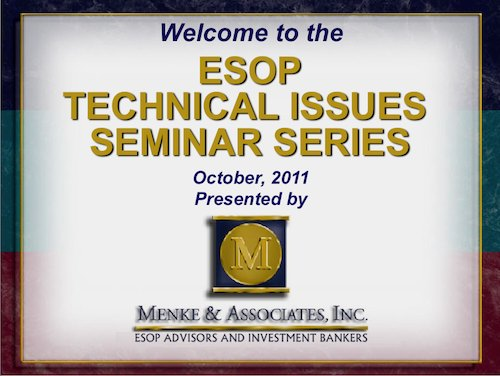 ESOP Technical Issues Seminar 2011